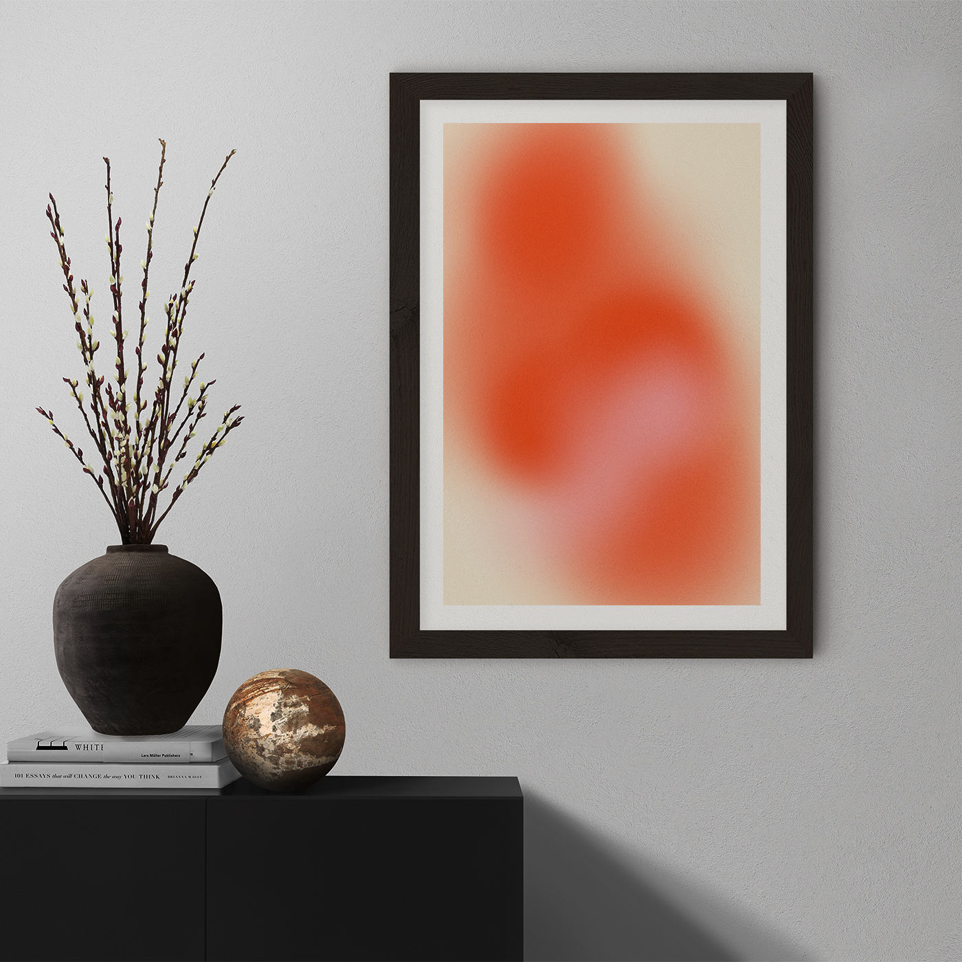Her Art Print Black Frame   Bombinate