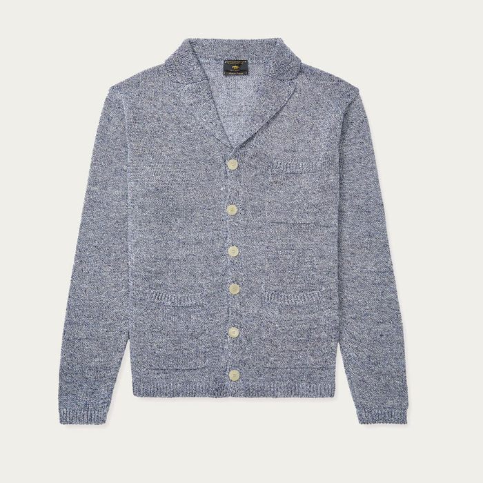 Blue Linen Knitted Jacket | Bombinate