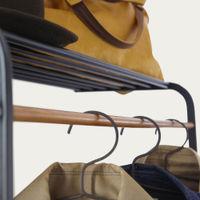 Black Tower Leaning Shelf Coat Hanger | Bombinate