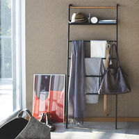 Black Tower Leaning ladder with Shelf | Bombinate