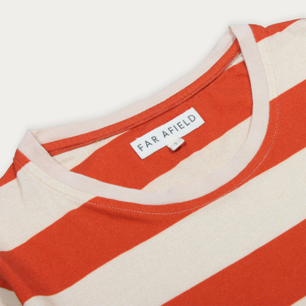 Red/White Bold Stripe T-Shirt  | Bombinate
