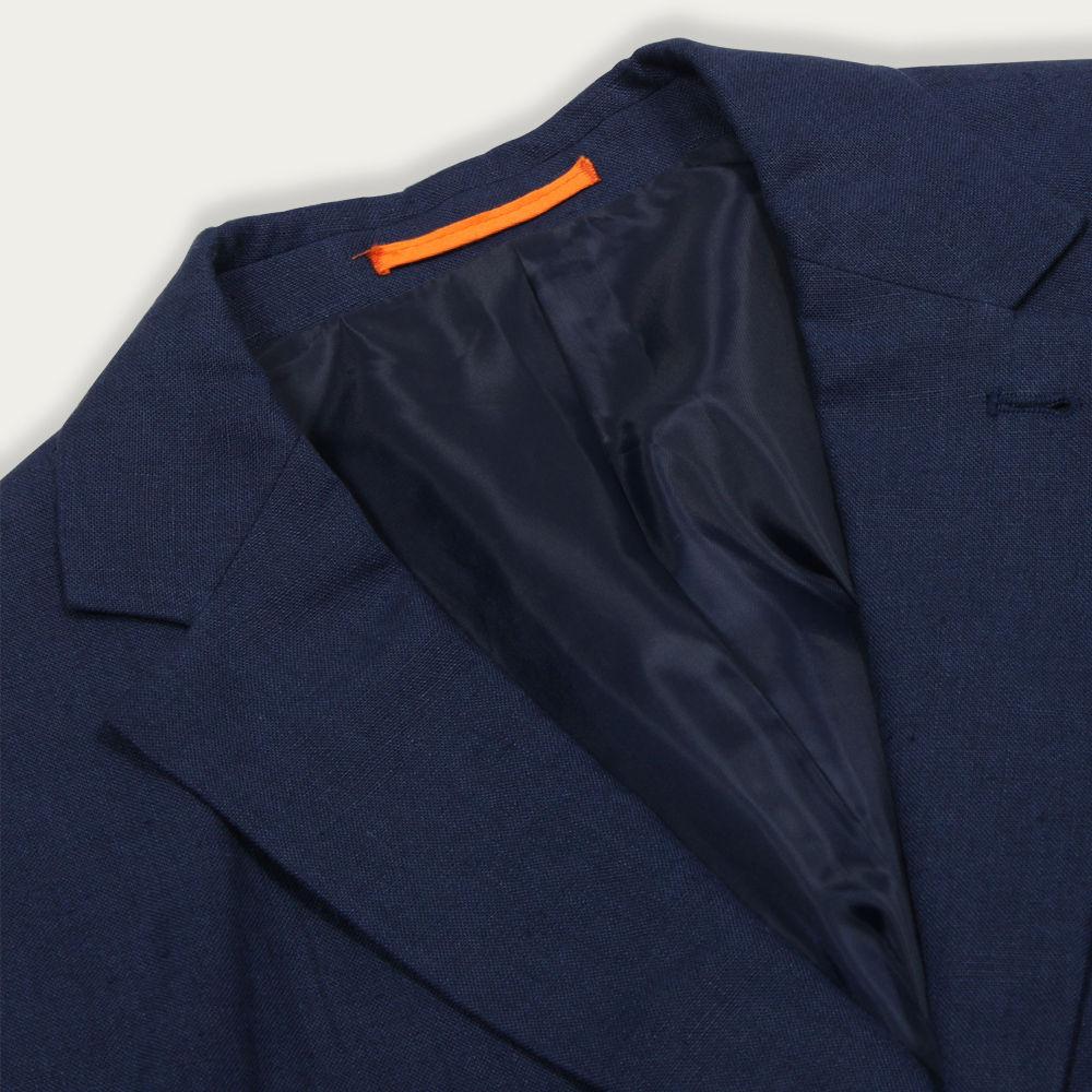Linen Blue Carter Jacket  | Bombinate