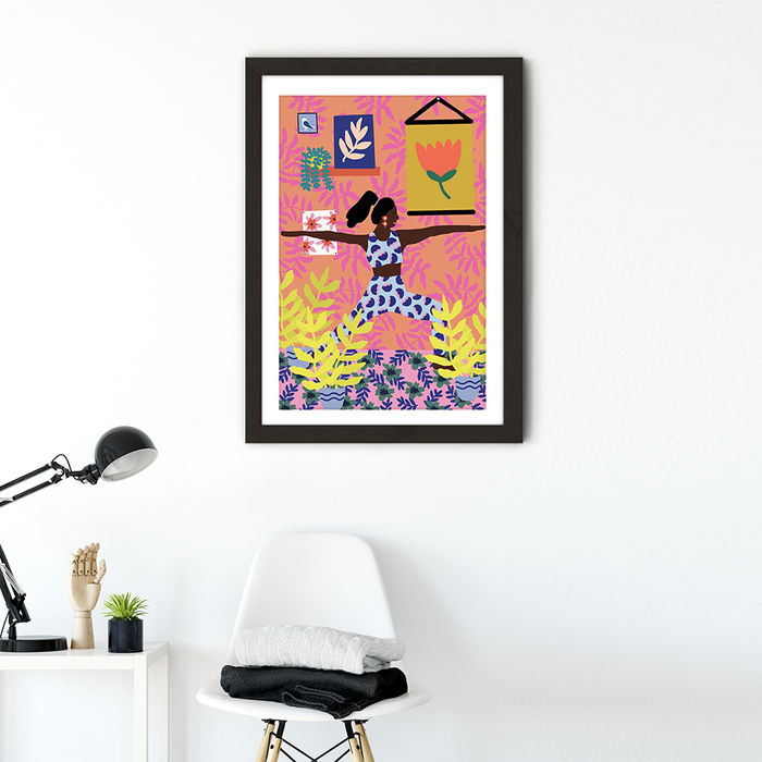 Just Take a Deep Breath Art Print Black Frame | Bombinate