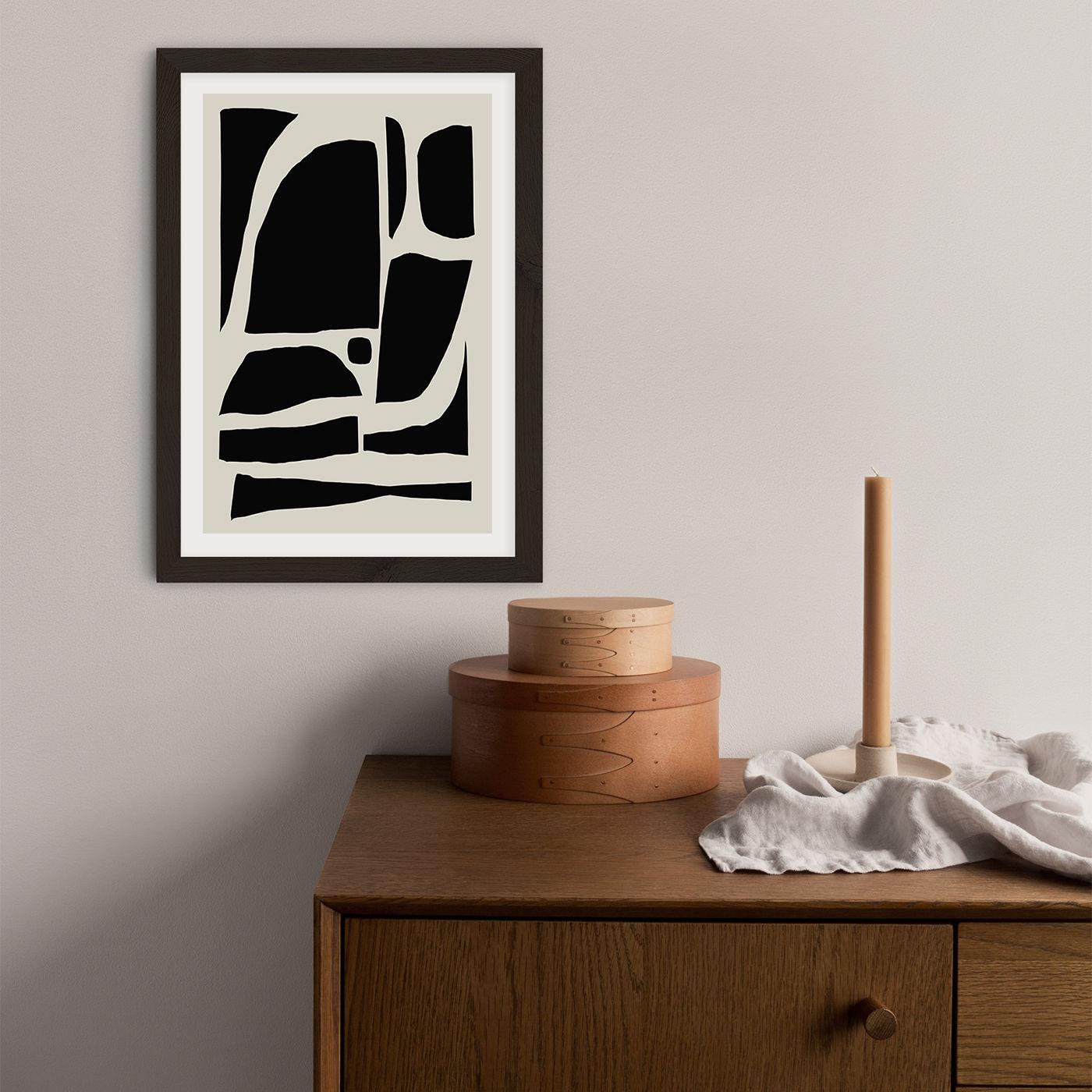 Boom Art Print Black Frame | Bombinate