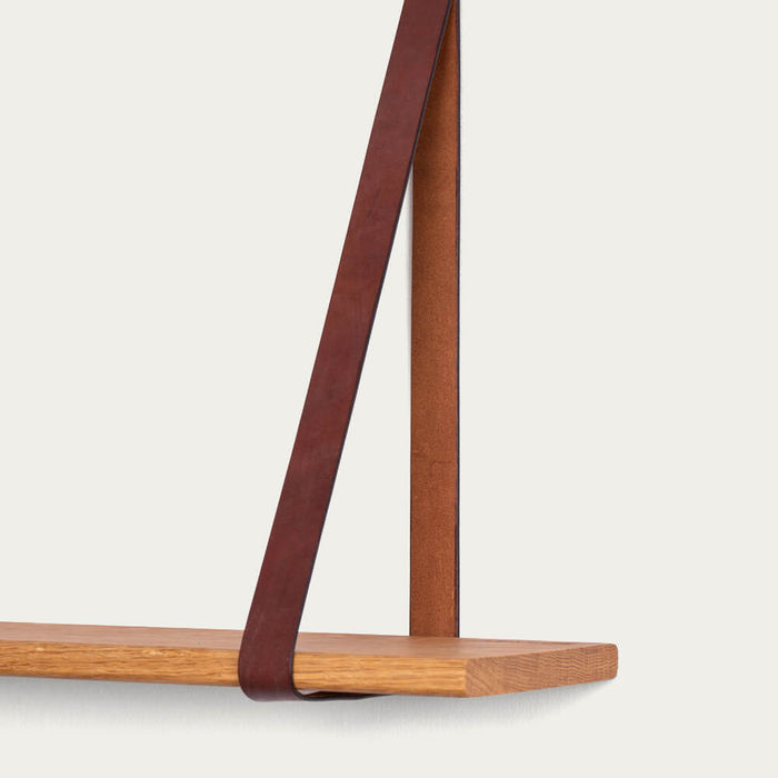 Two Leather Sling Shelf | Bombinate