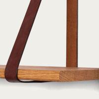 Three Leather Sling Shelf | Bombinate
