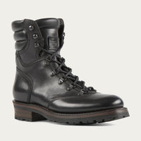 Black Reflex Cordovan Leather Hiker Boot | Bombinate
