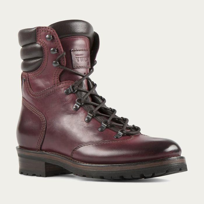 Burgundy Reflex Cordovan Leather Hiker Boot   Bombinate
