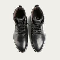 Black Royal Cordovan Leather Logger Boots   Bombinate