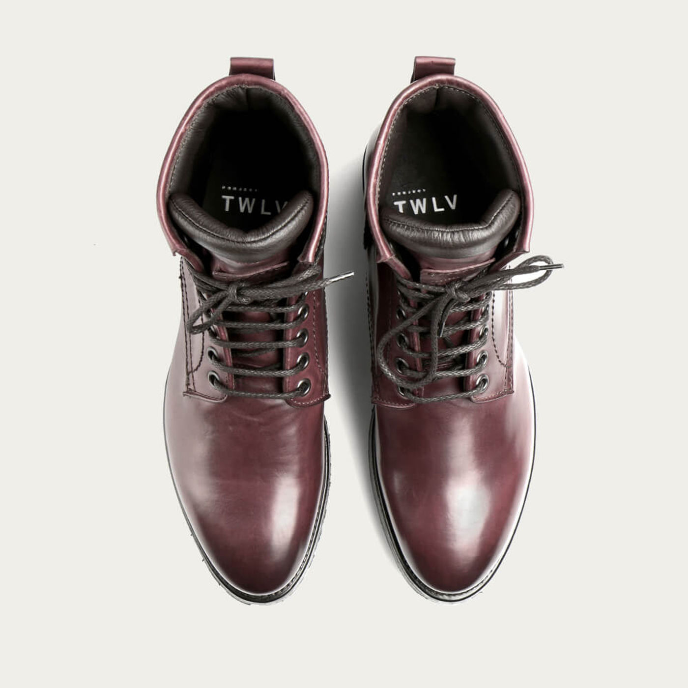 Burgundy Royal Cordovan Leather Logger Boots | Bombinate