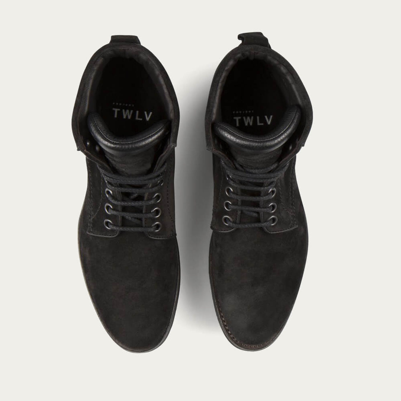 Black Royal Suede Leather Logger Boots | Bombinate