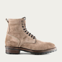 Sand Royal Suede Leather Logger Boots | Bombinate