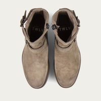 Sand Lowrider Suede Leather Rock Boots | Bombinate