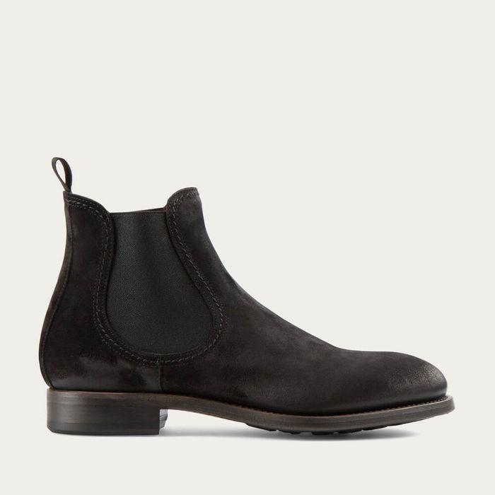 Black Hanoi Suede Leather Chelsea Boots | Bombinate