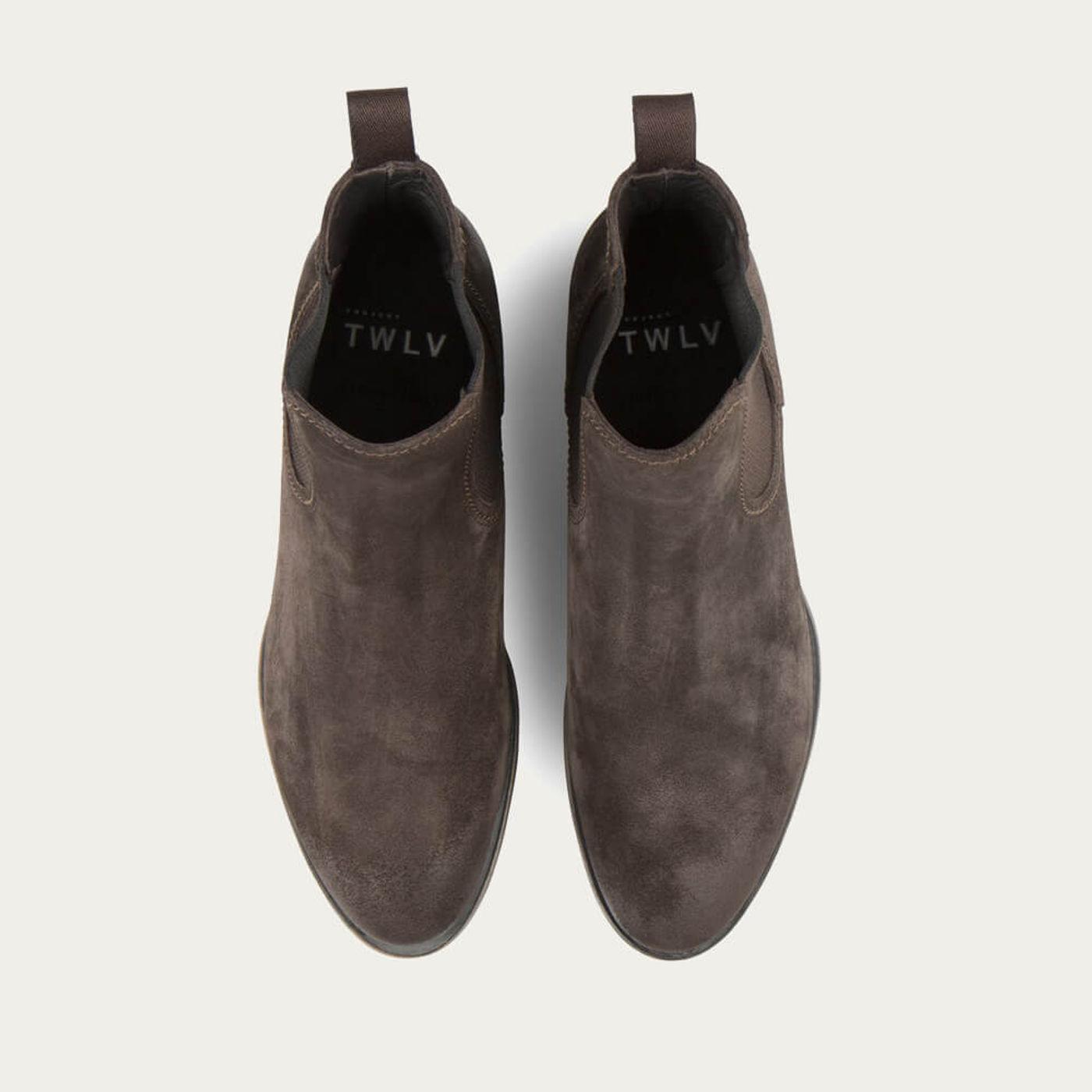 Coffee Hanoi Suede Leather Chelsea Boots | Bombinate