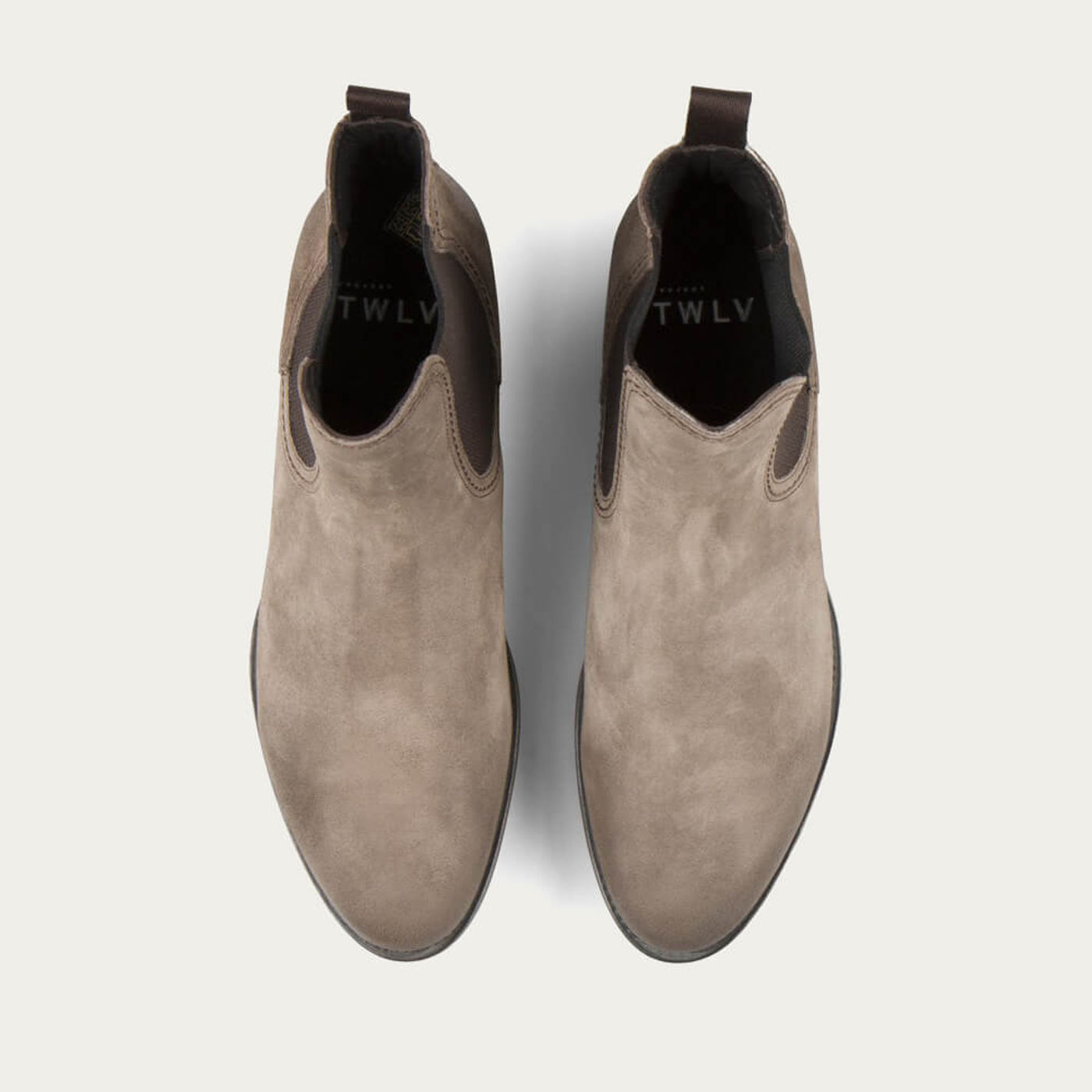 Sand Hanoi Suede Leather Chelsea Boots   Bombinate