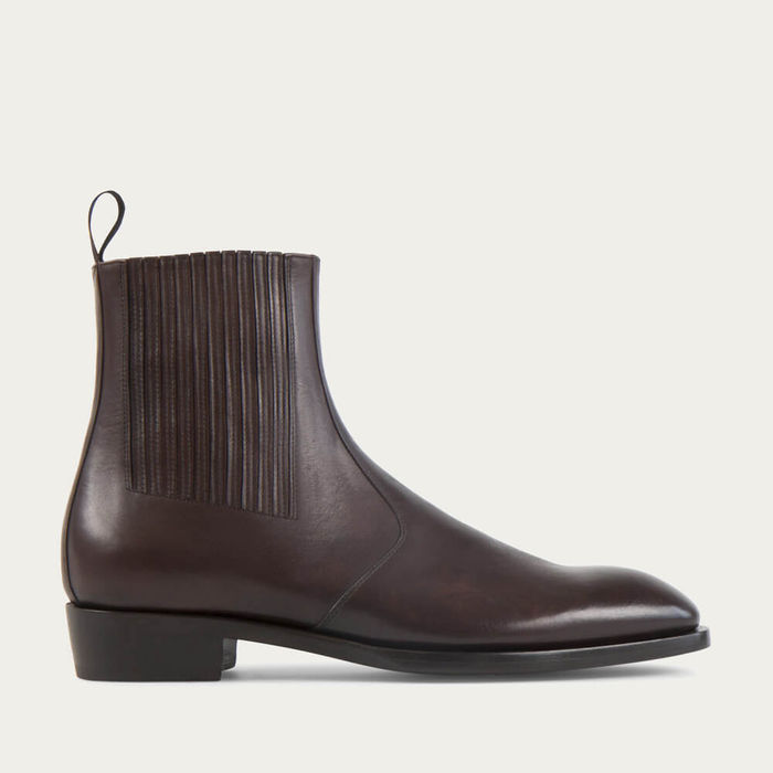 Coffee Jay Soft Cordovan Leather Chelsea Boots | Bombinate