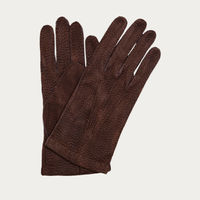 Dark Brown Capybara Cashmere Gloves   0