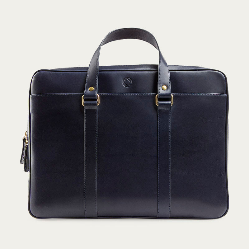 Navy Carter Briefcase  | Bombinate