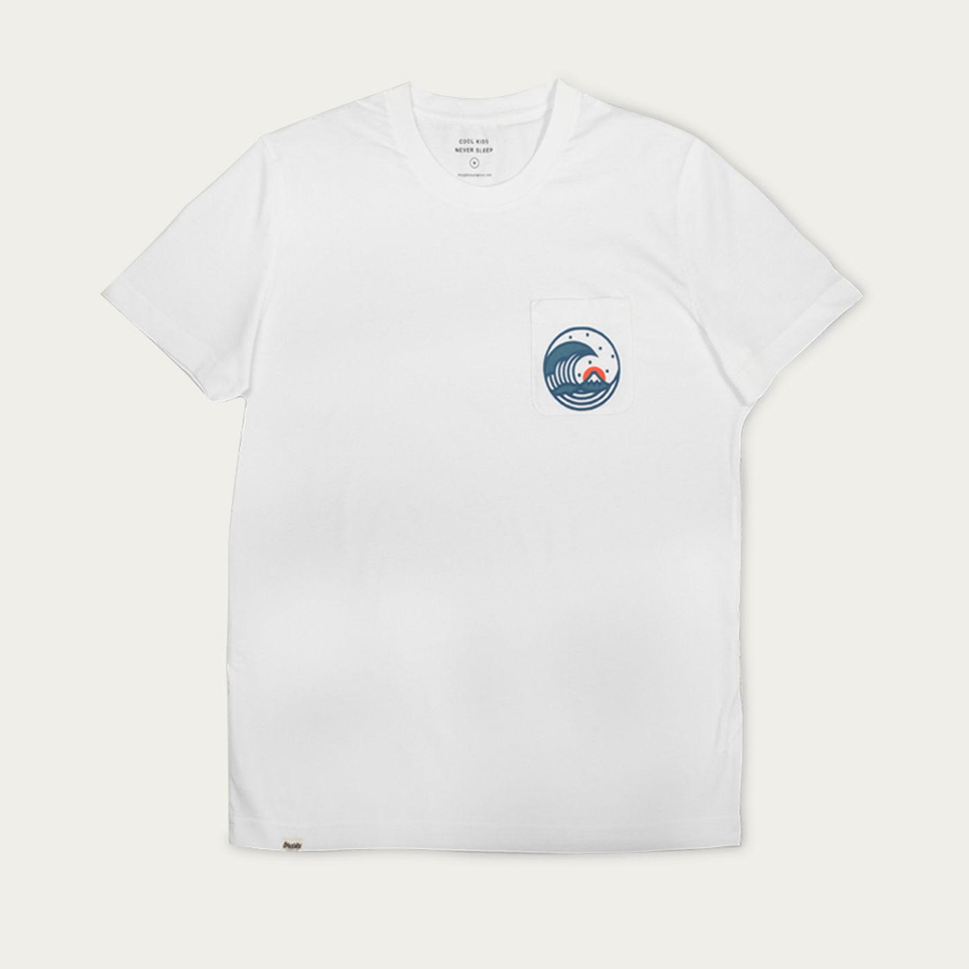 Grey Japanese Wave T-Shirt   Bombinate
