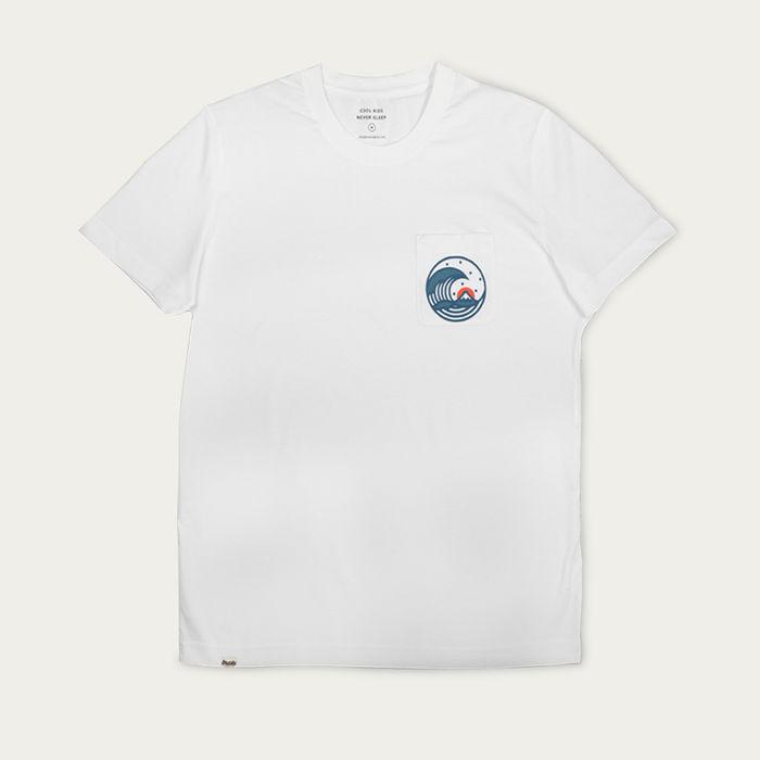 Grey Japanese Wave T-Shirt | Bombinate