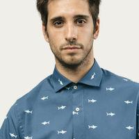 Blue Sharks Printed Shirt | Bombinate