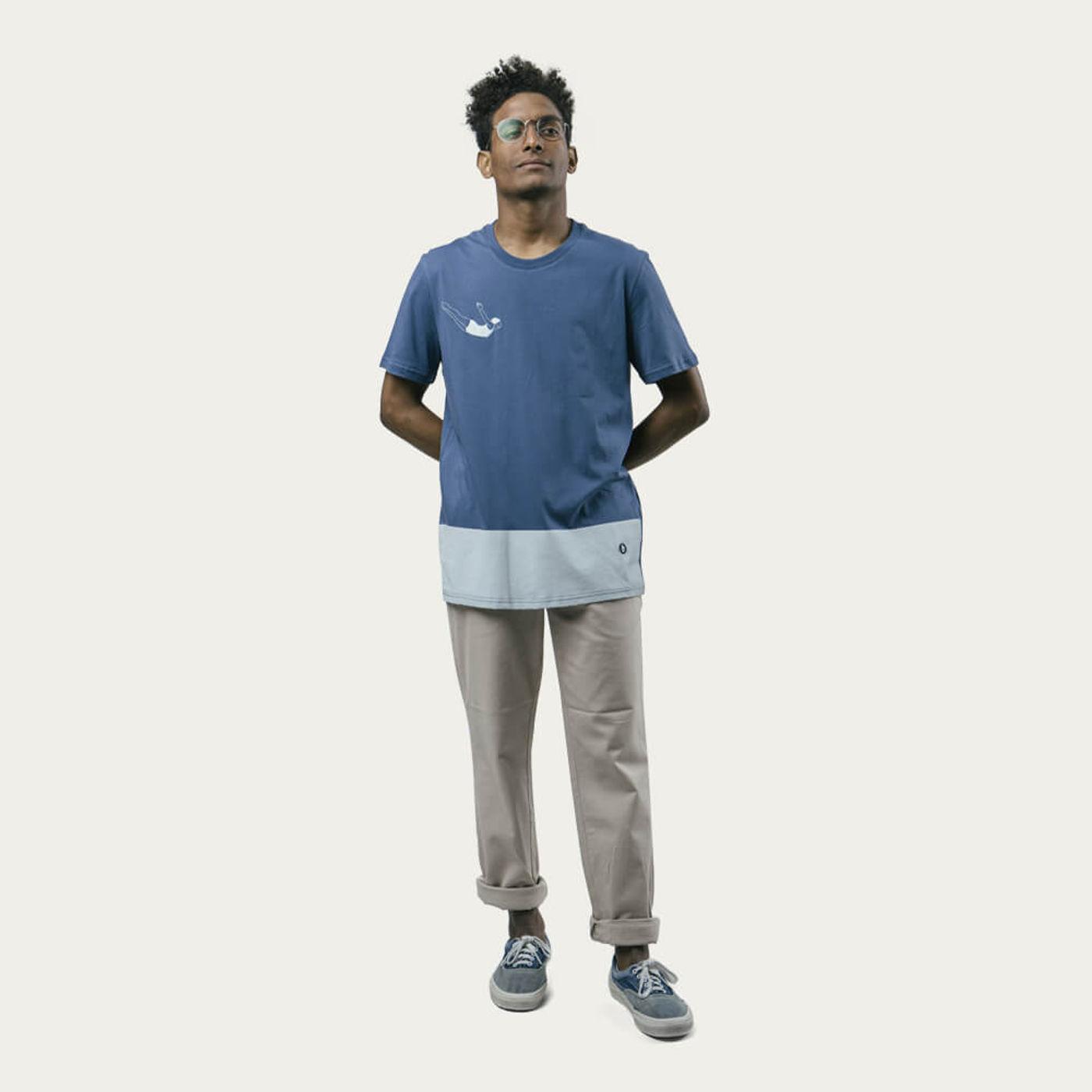Blue Vintage Swimmer T-Shirt   Bombinate