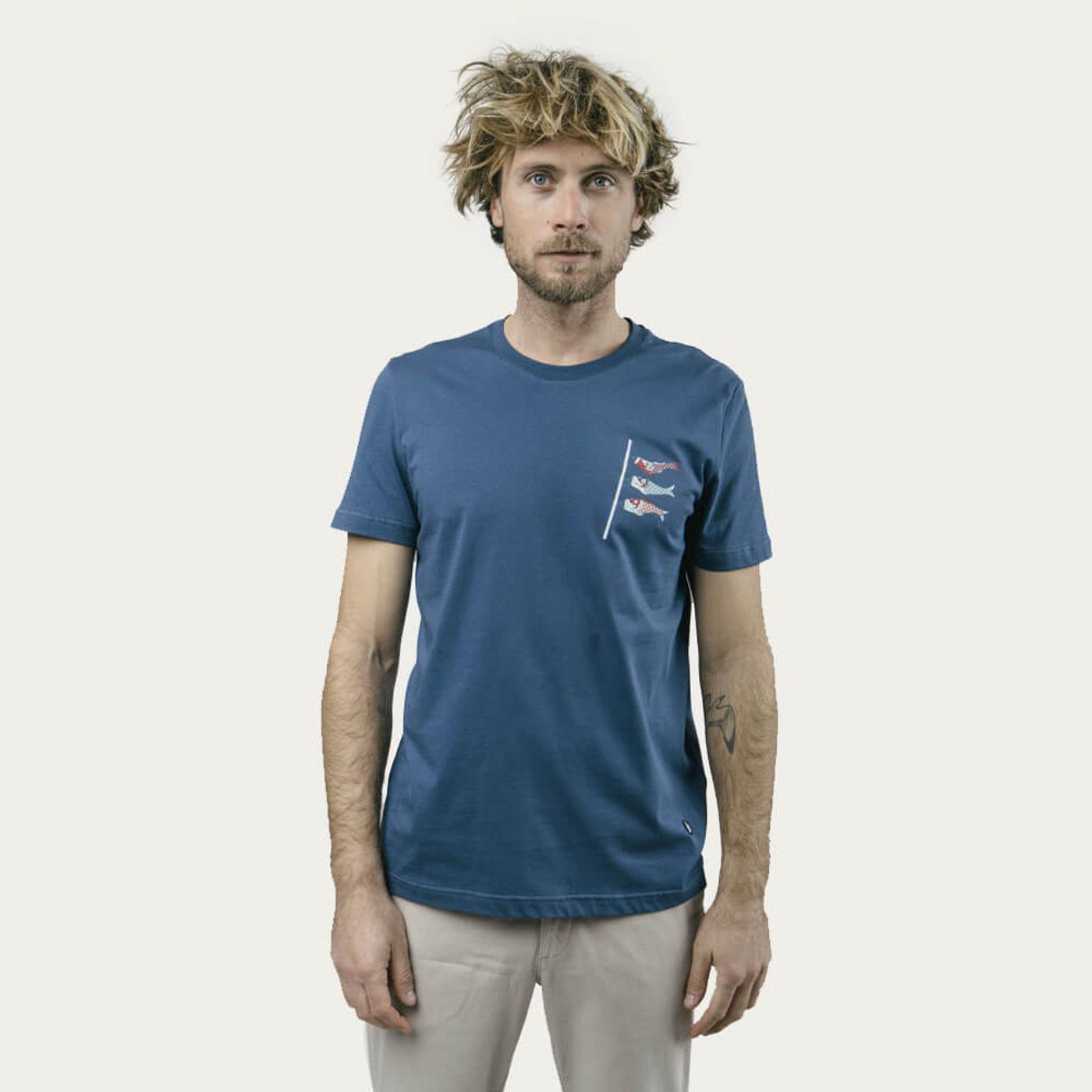 Blue Koinobori Kite T-Shirt | Bombinate