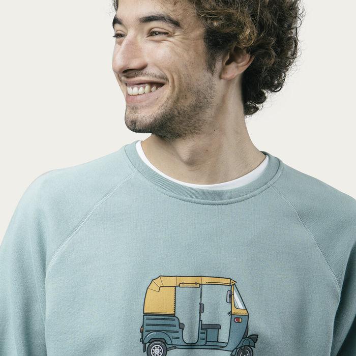 Green Tuk Tuk Race Sweatshirt | Bombinate