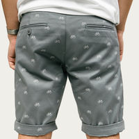 Grey Fixed Gear Rider Printed Shorts   Bombinate