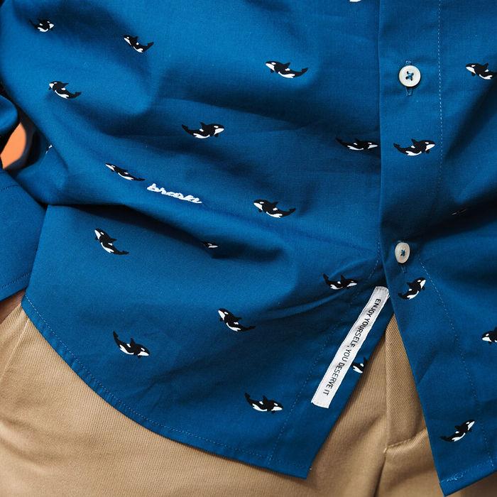 Blue Arctic Orca Printed Shirt | Bombinate