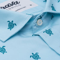 Blue Turtle with Love Printed Shirt | Bombinate