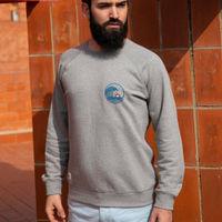 Grey Japanese Wave Sweatshirt   Bombinate