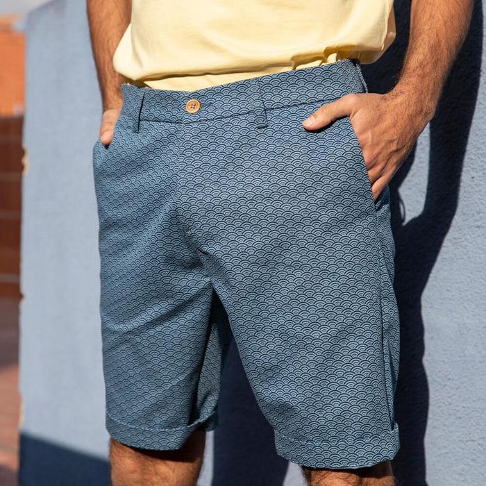 Blue Shibuya Printed Shorts | Bombinate