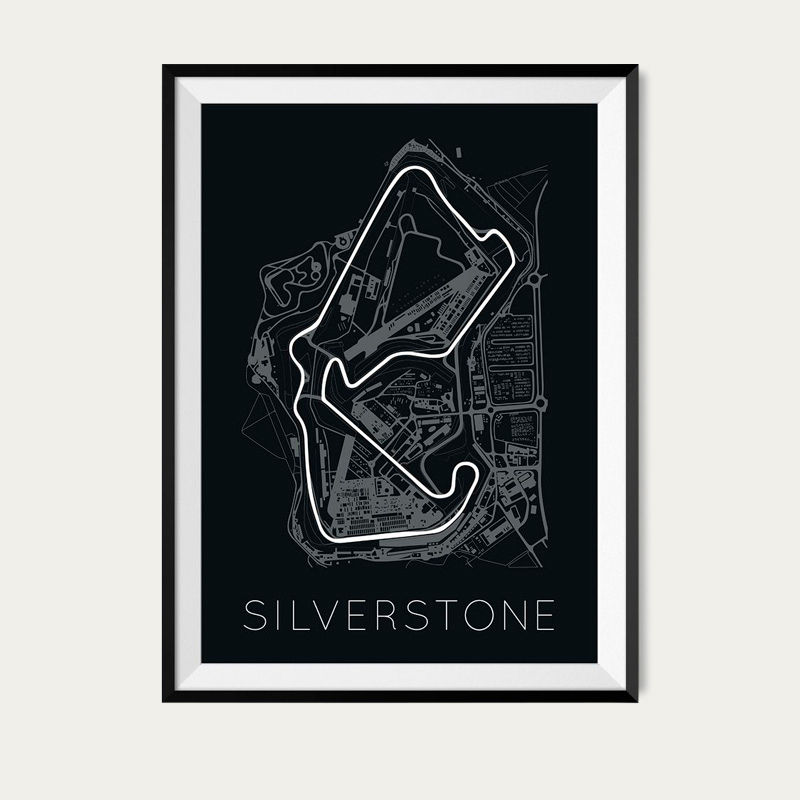 The Blueprint of Velocity – Silverstone Circuit Poster | Bombinate