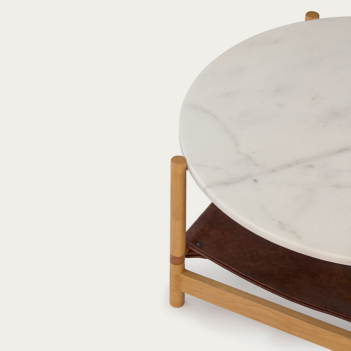 1.02 White Circular Coffee Table  | Bombinate