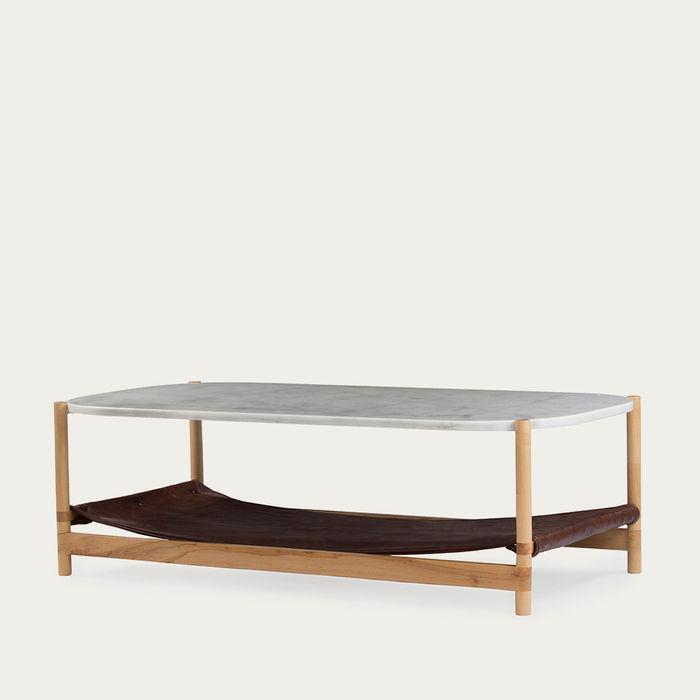 1.03 White Rectangular Coffee Table  | Bombinate