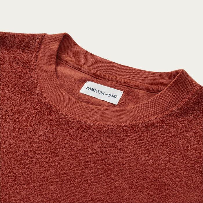 Tobacco Terry Towelling Sweatshirt | Bombinate