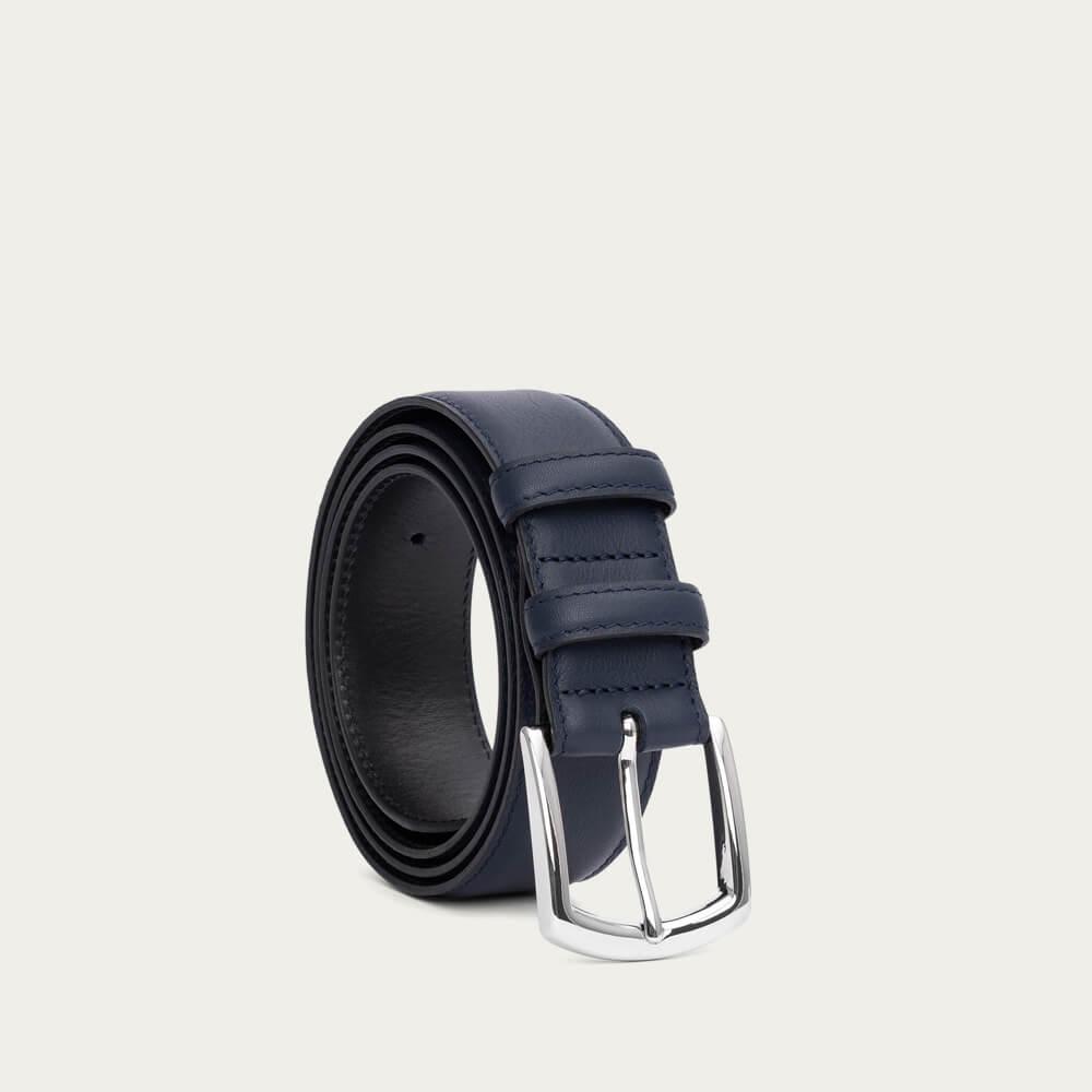 Blue Miguel Handmade Leather Belt | Bombinate