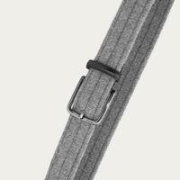 Grey Flavio Elastic Braided Wool | Bombinate
