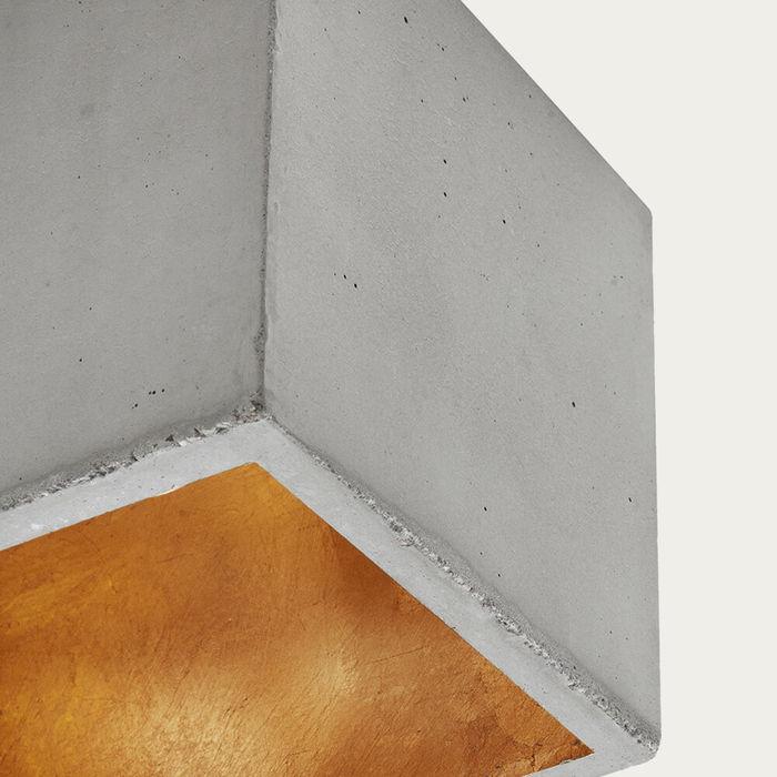 Graphite Grey Horizontal Rectangle Pendant Light | Bombinate