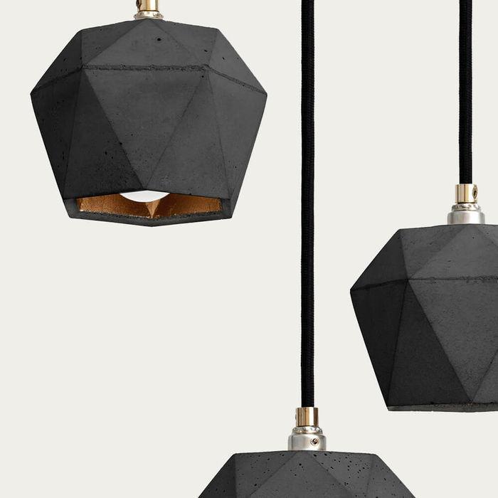 Dark Grey Bundle Pendant Light Triangle | Bombinate
