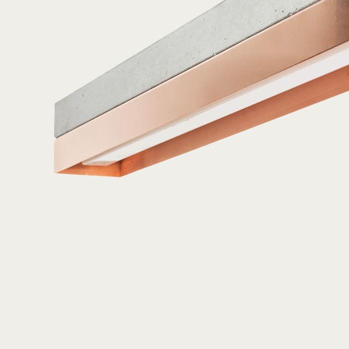 Graphite Grey Concrete & Copper Pendant Light   Bombinate