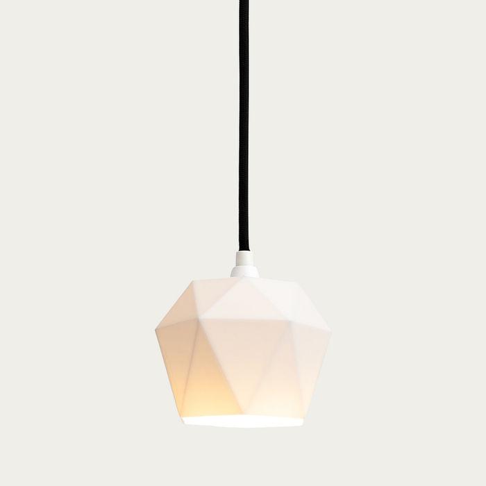 White Porcelain Pendant Light Triangle | Bombinate