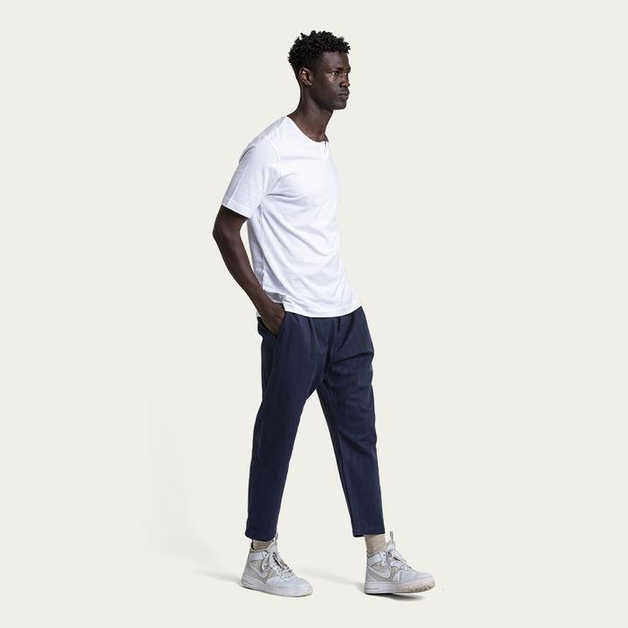 Black Iris Cotton Weekend Trouser | Bombinate
