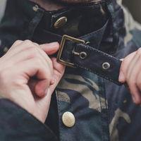 Olive Camo Speed 6 Wax Biker Jacket | Bombinate
