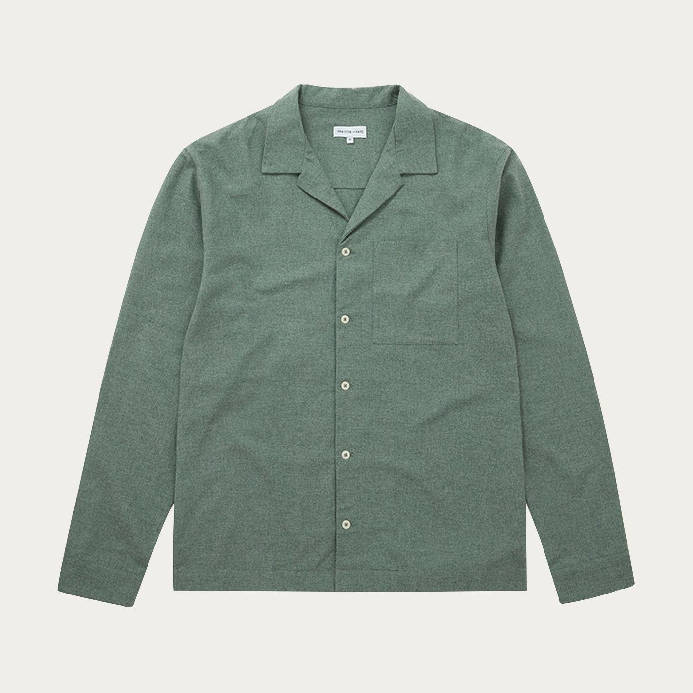 Sage Green Flannel Pyjama Set   Bombinate
