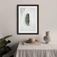 Minimal Forest Love Art Print Black Frame   Bombinate