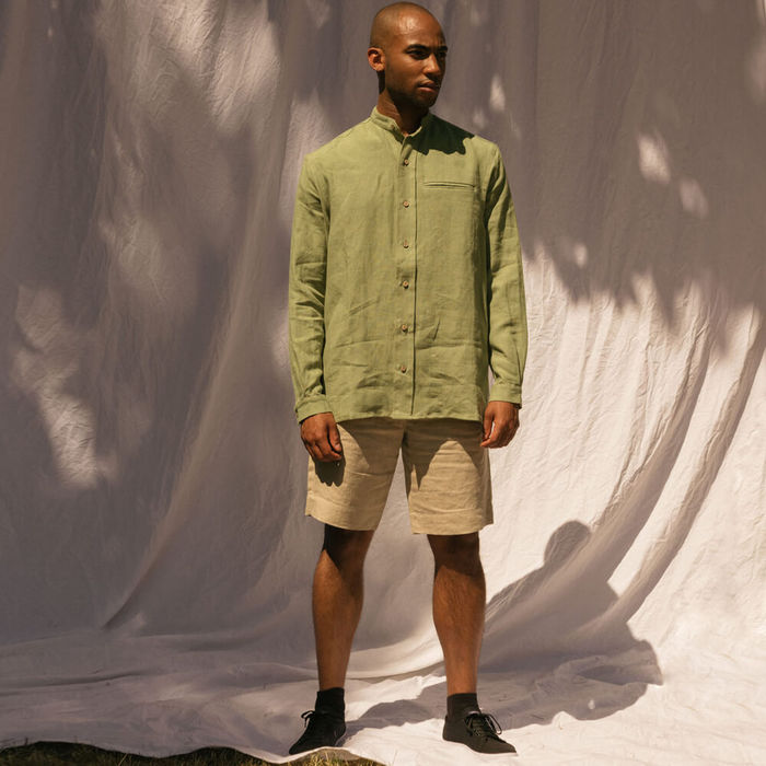 Khaki The Mao Shirt | Bombinate