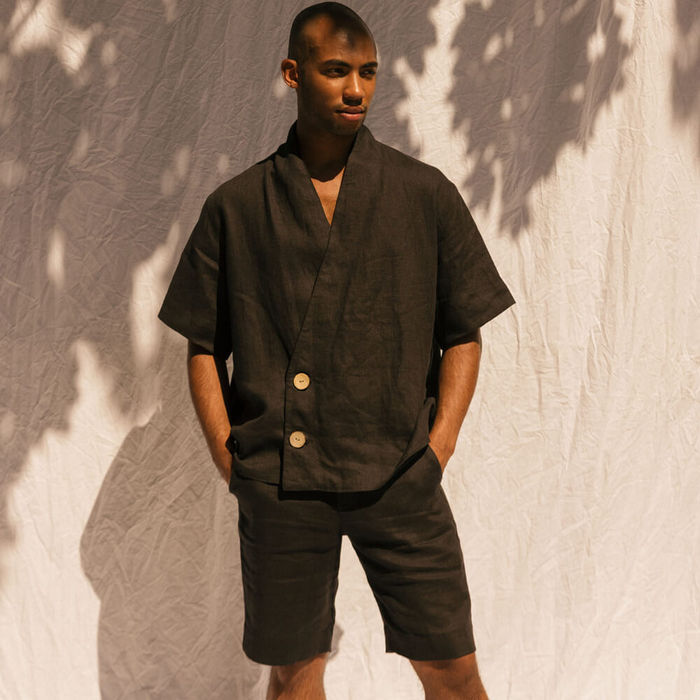 Black The Wrap Shirt | Bombinate